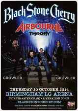 BLACK STONE CHERRY - 2014 TOUR FLYER - RARE LIVE CONCERT MUSIC PROMO - AIRBOURNE