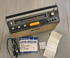 Vintage Portable AM/FM Radio 8 Track Player MacDonald 8PSR-3000 Orig Paperwork