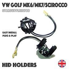 2x H7 VW GOLF MK6 MK7 SCIROCCO HID HEADLIGHT KIT BULB HOLDERS ADAPTORS