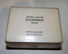 RARE PARFUM SOLIDE JEAN LOUIS SCHERRER NEUF SOLID PERFUME BOX HOUSSE POUCH NEW