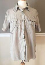 Short Sleeve Columbia Ladies Tan PFG Fishing Shirt Size Large