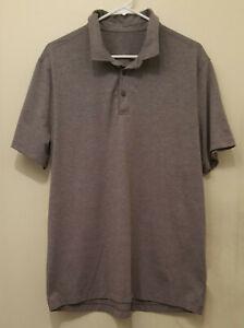 LULULEMON Evolution Polo Men's Size XL Heathered Graphite Purple Shirt