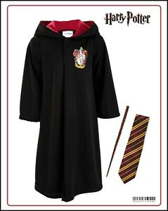 Girls Harry Potter Hermione Granger Robe Wand & Tie Fancy Dress Costume Outfit