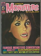 1976 FAMOUS MONSTERS Magazine LOT of 2 #122 FN #123 FN+ Convention / Ingrid Pitt