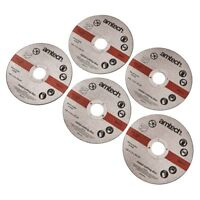 AMTECH 5pc 1.2mm x115mm 4.5'' METAL BOLT CUTTING DISC GRINDER CUTTER BLADE NEW