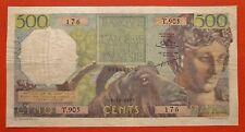 Algérie - 500 Francs - 18 octobre 1955