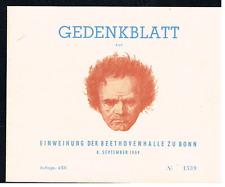 Bund 1959 Block 2 Beethoven Gedenkblatt gestempeld (Auflage nur 4000 stuck)
