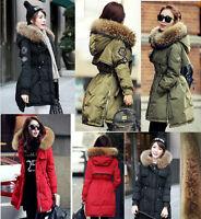 TOP Women Winter Warm down jacket Good Real Fur Hood Real Duck Down Parka Coat