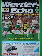 Programm 1993/94 SV Werder Bremen - Borussia Dortmund