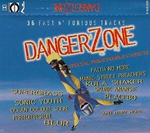 Various DANGER ZONE  2x CASSETTE ALBUM BLUR MANICS DEPECHE Alternative Rock