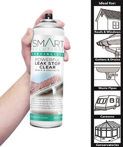Leak Stop Spray n Seal Fix Clear Instant Waterproof Sealant Mastic Gutter Roof
