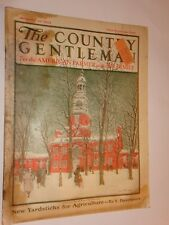 1923 The Country Gentleman Magazine January 20 issue winter scene on cover