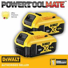 Genuine Dewalt DCB184 18v XR 5ah slide battery *TWIN PACK*