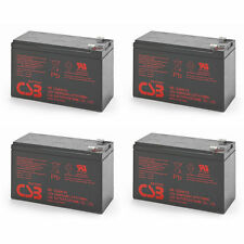 Lot of 4 New 2016 HR1234W CSB High Rate 12V 34W SLA Battery w/F2 Terminals