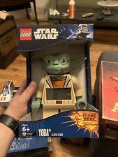 New LEGO Kids' 9003080 Star Wars Yoda Minifigure Alarm Clock Lego Yoda Clock