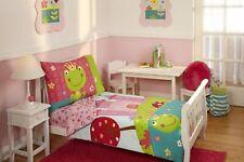 Kids Toddler Fairytale Bedding Set 4pc Bedspread Bottom Top Sheet Pillowcase New