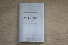 WEHRMACHT WW2 G.G 42 MANUAL 1944 , 146 PAGES , POCKET SIZE