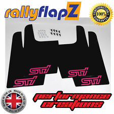 rallyflapZ SUBARU IMPREZA WRX STi Universale (Versione 1) Nero Sti Rosa 3mm PVC