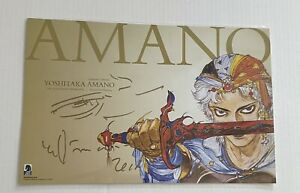 SDCC 2018 Beyond The Fantasy SIGNED Poster Yoshitaka Amano Dark Horse FF Comic