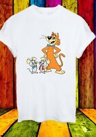 Pixie and Dixie and Mr Jinks Mice Cat Funny Cartoon Men Women Unisex T-shirt 838