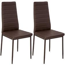 2x Chaise de salle à manger ensemble salon design chaises cuisine neuf marron