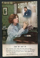 C1915 WWI: Bamforth Song Card: No.2 Day by Day: Girlfriend Praying/Sailor