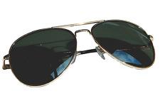 Aviator Brille Gold Grün Pilotenbrille Fliegerbrille Sonnenbrille Top Gun!