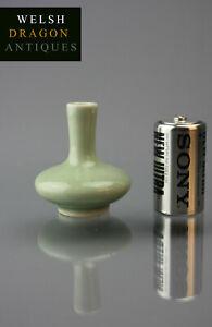 Fine Museum Chinese Antique Quality Guangxu Period Pale Green Minature Vase