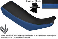 BLACK & ROYAL BLUE CUSTOM FITS YAMAHA DT 125 R DTR 99-03 DUAL LEATHER SEAT COVER