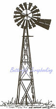 Country Windmill Wood Mounted Rubber Stamp NORTHWOODS - O4689 New