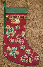 Arfff Dog Tapestry Christmas Stocking