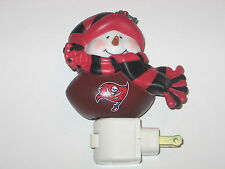 """Tampa Bay Buccaneers 5"""" Christmas Touchdown Snowman Night Light"""