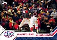 2017 Topps Opening Day Superstar Celebrations #SC-5 Francisco Lindor Indians