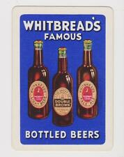 WHITBREAD*S FAMOUS BOTTLED BEERS  X 1 ONLY SINGLE VINTAGE PLAYING/SWAPCARD .