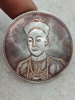 chinese QingDy TongZhi emperor two dragon playing with pearl100%Silver Coins