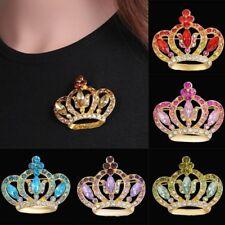 Women Fashion Crystal Rhinestone Crown Wedding Bridal Bouquet Brooch Pin Gift