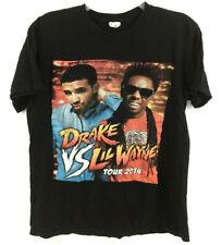 Drake Vs Lil Wayne Tour 2014 T-Shirt 2 Sided Street Fighter Rap Hip Hop Cities M