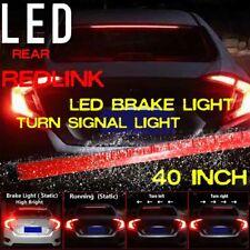 40'' Roofline LED Third Brake Light Strip car Above Rear Windshield Red Bar Kits
