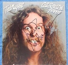 TED NUGENT & DEREK ST HOLMES Hand Signed CAT SCRATCH FEVER Album PIC PROOF -