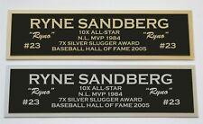 Ryne Sandberg nameplate for signed autographed baseball jersey photo glove bat