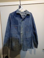 New listing Vintage OshKosh Denim Chore Barn Jacket Sanforized Distressed Workwear Mens 42?