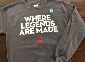 Where Legends Are Made Sweatshirt Crew Neck University of Alabama Crimson Tide