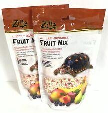 New listing 2 Bag Zilla Reptile Munchie Fruit Mix 2.5 Oz Treat Food Iguana Hermit Crab B35-9