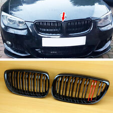 Front Grille Grill For BMW E92 E93 2006-2010 2DR Gloss Black + Red Metallic