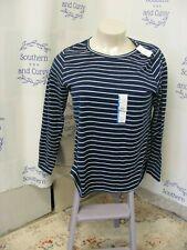 NWT Time & Tru Navy & White Striped LS Shirts Size 3XXX