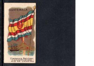 VERY EARLY GUATEMALA FLAG CIGARETTE CARD,  SCARCE CARD