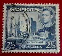 Cyprus:1938 -1951 King George VI,  2½ Pia Rare & Collectible stamp.