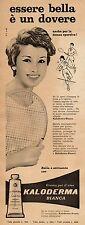 J0435 Crema per il viso KALODERMA bianca - Pubblicità - 1961 Vintage Advertising