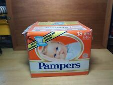 Vintage Rare Pampers Super 6-10 Kg 13-22 lbs 18 Diapers Made in West Germany