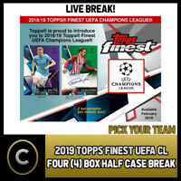 2018/19 TOPPS FINEST UEFA CHAMPIONS LEAGUE 4 BOX (1/2 CASE)  #S023 - PICK TEAM